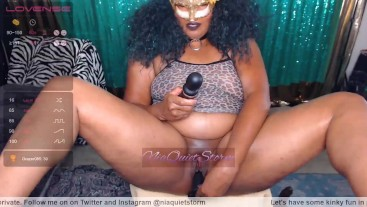 Ebony Goddess Masturbation and Dildo Penetration