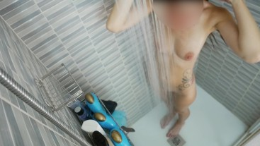 Sexy Wife Shaving Pussy In A Hot Steamy Shower