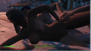 Brothel in the village. Girls make money on construction sites! | Fallout 4 Sex Mod