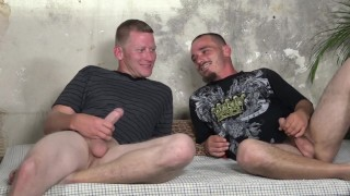 2 GUYS BEND OVER, GRAB THE POLE & GET FUCKED!!