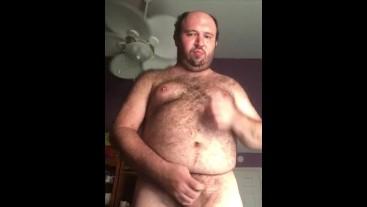Man masturbates in his room alone