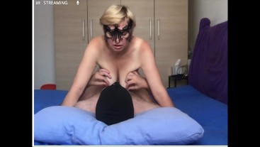 Submissive slut fucked and came loud. Webcam record.