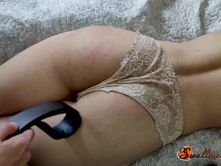 Spanked a girl on her sexy ass for bad behavior (average level)
