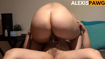 Dripping Amateur Anal Creampie for Thick Jiggly Big Butt Pawg!