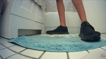 Hidden Camera Bathroom Floor Sneakers Fetish