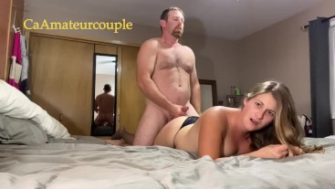 CaAmatuercouple has chair sex with doggystyle and 3 cumshots