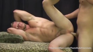 BIG DICKED REDNECK FUCKS BUTCH BLONDE MUSCLE..THEY'RE STR8???