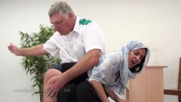 Yasmeena's otk spanking 2109