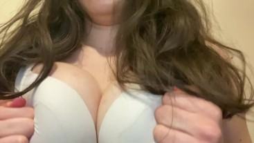 Cute Small Petite Hot Barely 18 Year Old Amateur Teen Plays with Her Natural Titties