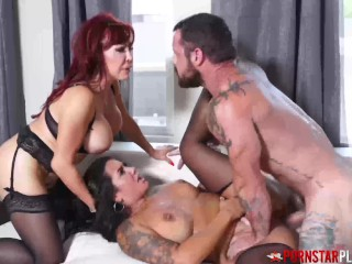 PORNSTARPLATINUM Redhead Sexy Vanessa Fucked In Threesome