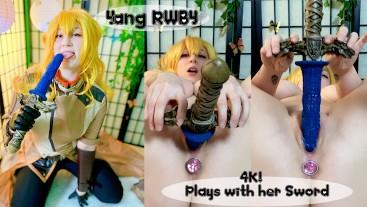Yang's New Sword (RWBY) 4K FULL VID OmankoVivi Cosplay Explore the Realm Blush Novelties