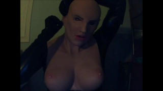 May and Playmate suited up Pt3! Masking in female mask Playmate while being masked in May!