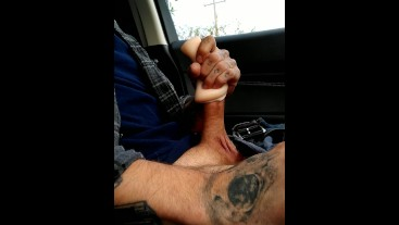 Masturbating in Walmart parking lot with toy!