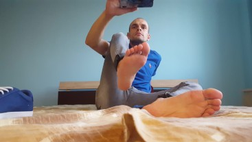 For feet lovers. Shoes socks and feet. Showing bare feet.Quality 4K