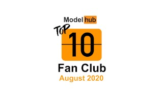 Top Fan Clubs of August 2020 – Pornhub Model Program