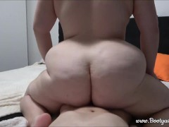 stepbrother & Pawg stepsister fuck together when no one is home