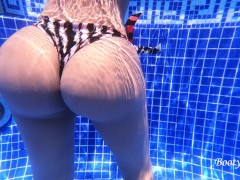 Bored bubble butt latina stranger gives me a handjob at the pool. We end up having sneaky sex.