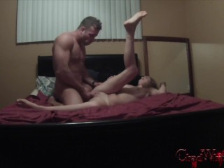 6min Trailer First home made video Kinsley Eden Gets Fucked by Chad White Monster Cock