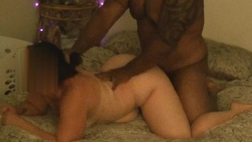 Pawg wife goes at it with her big black bull