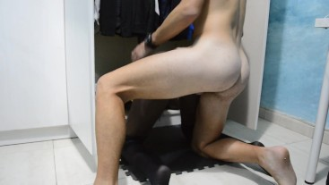 step sister let fuck in the closet stuck