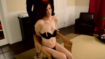 Holly doing BDSM on a sexy trans girl in LA ~KimberlyGeorge~