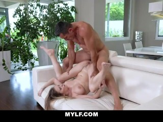 Busty Blonde MILF Loves Fucking After Workout Sesh