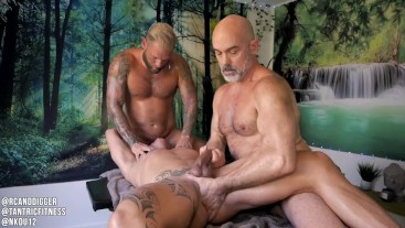 4 HAND MASSAGE and 4 LOAD FUCK Part 2