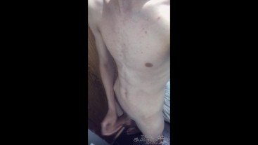 A BOY COMES FROM SCHOOL AND WALKS INTO THE BATHROOM TO JACK OFF HIS COCK AND CUM