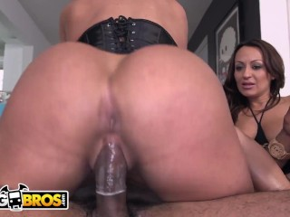 BANGBROS – Becca Diamond & Vanessa Luna FFM Threesome With Stallion