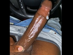 BBC Dirty Talk and Stroking in the Car