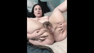 Hairy BBW MILF Shows off Body Hair & Gets Unbelievably Wet from 20+ Min Edging