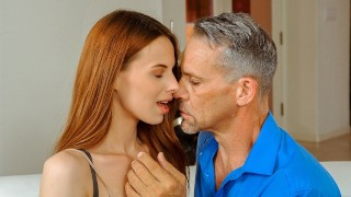 DADDY4K. Only passionate old and fucking can cheer chick up