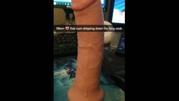 King Cock Aftermath Dripping With Cum