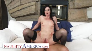 Naughty America - India Summer's husband cheated on her, so she invites her personal trainer over
