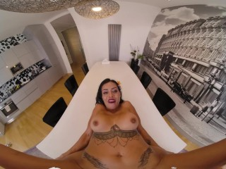 VR BANGERS Fuck Your Sexy Latina Wife Needs A Relax VR Porn
