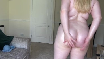 Oil ass and butt clenching