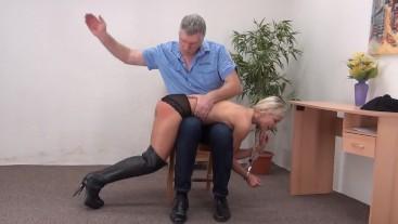 Lola's funny otk spanking 2509