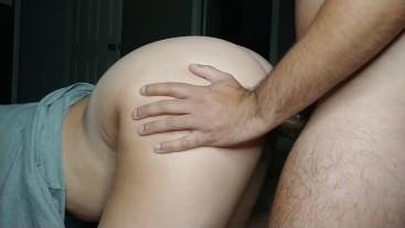 Doggystyle premature cumshot edging weak small penis PAWG