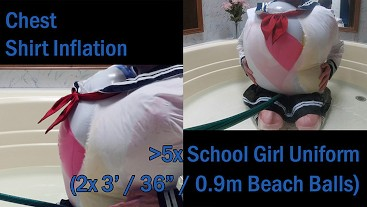 WWM - School Girl Uniform Inflation to Pop