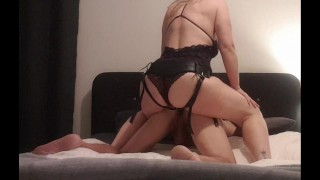 Femdom pegging his ass hard to spit his cum in his mouth – MIN MOO