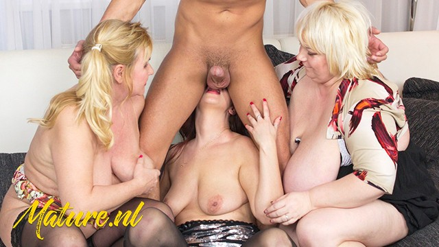 Three Housewives Fuck ToyBoy Waiter In a Foursome Party