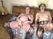 Pregnant Couple and Friend Double Squirt and Sip