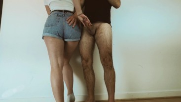 i need a doctor... cant stop to masturbate on my curvy step sister - cum on tight jeans ass