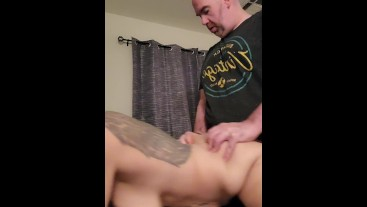 Amateur whore being fucked by Daddy