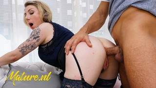MILF Gets Anal Creampied While Husband Is Working