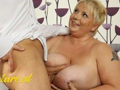 Bbw Milf Gets Her Enormous Tits Torn Up By Stepson