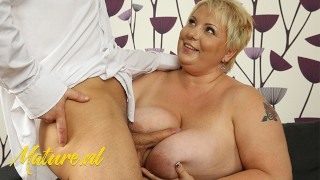 BBW MILF Gets Her Huge Tits Fucked By Stepson