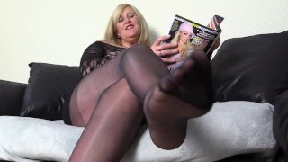Filthy Stepmon knows you have a pantyhose and Foot fetish