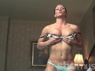 Video 1395567703: ariel x, fetish solo, solo ripped, fetish woman, bodybuilder solo, muscle solo, posing solo, muscular solo, solo female big, sexy lingerie