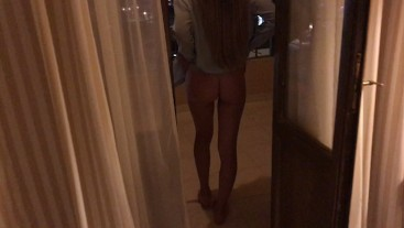 Hot Teens Fuck On The Balcony Of The Resort at Night